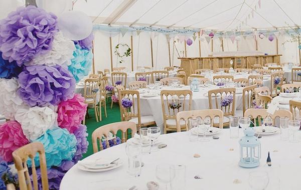 Способы украшения свадебного зала